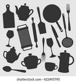 Kitchen Objects  / Vector Silhouette