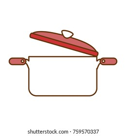 kitchen pot open isolated icon