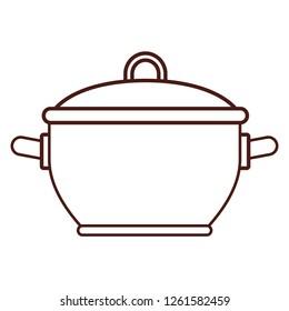 Kitchen pot utensil brown lines