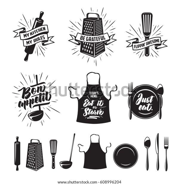 Kitchen Prints Set Quotes Funny Sayings | Signs/Symbols ...