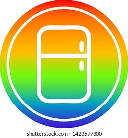 kitchen refrigerator circular icon with rainbow gradient finish