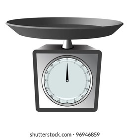 kitchen scale against white background, abstract vector art illustration