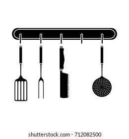 kitchen set equipment hanging