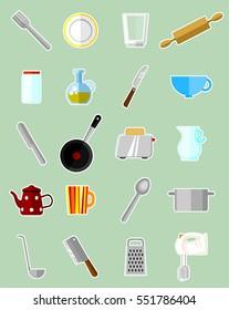 Kitchen set - vector illustration