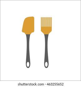 kitchen spatula and brush