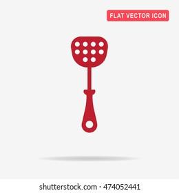 Kitchen spatula icon. Vector concept illustration for design.