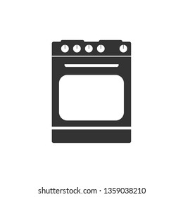 Kitchen, stove icon. Vector illustration, flat design.
