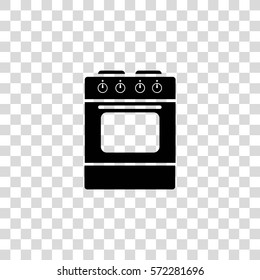 kitchen stove with oven vector icon