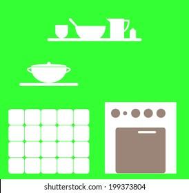 Kitchen style. vector / illustration
