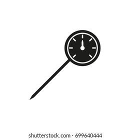 kitchen thermometer icon - vector illustration