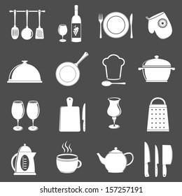 Kitchen utensil icons.