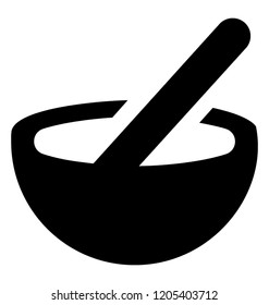 Kitchen utensil known as mortar and pestle
