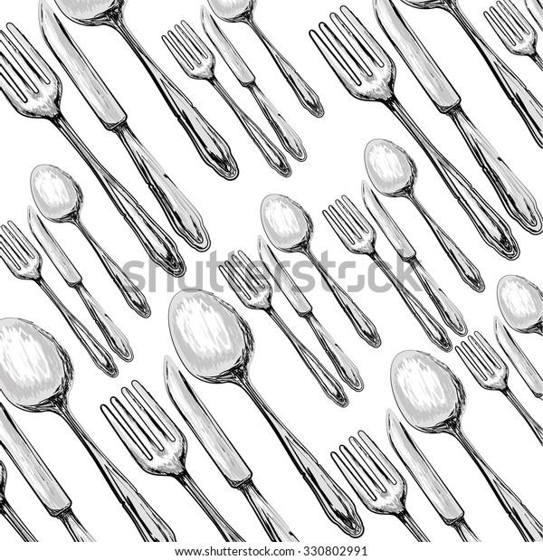 Kitchen Utensils Equipment Icon Design Vector Stock Vector