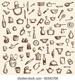 Imagenes Fotos De Stock Y Vectores Sobre Doodle Kitchen