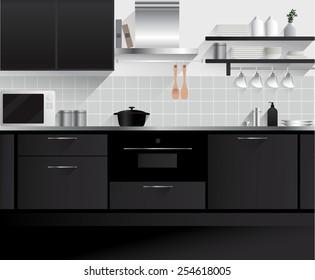 Modern Kitchen Vector Simple Images Stock Photos Vectors Shutterstock