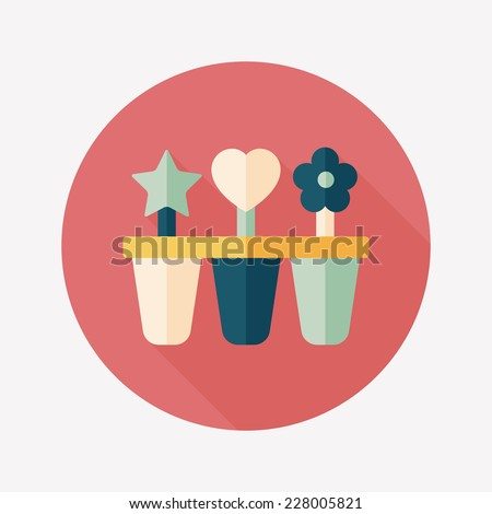 Kitchenware Ice Maker Flat Icon Long Stock Vector (Royalty Free