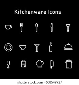 kitchenware icon with black background