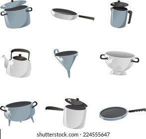 Kitchenware icon collection.