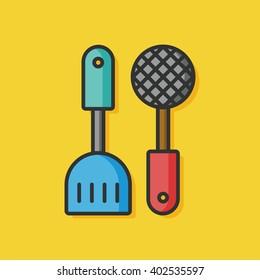 kitchenware spoon and Spatula icon