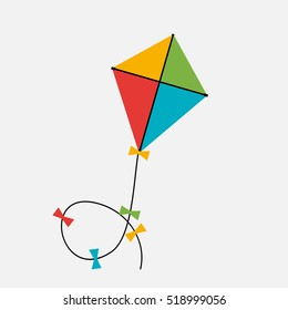 Kite  Icon. Vector Illustration EPS10