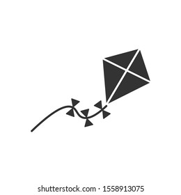 Kite icon vector. Kite vector sketch icon isolated on background.
