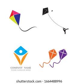 kite logo vector illustration design