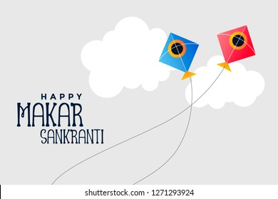 kites flying in sky makar sankranti festival