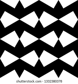 Kites pattern. Ethnic motif. Polygons backdrop. Quadrangles wallpaper. Geometric background. Digital paper, textile print, web design, abstract. Seamless ornament