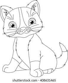 kitten coloring page 260nw