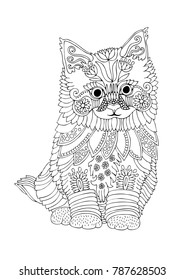 Sketch For Anti Stress Adult Coloring Book In Zen