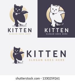 Kitten Pet Shop Logo