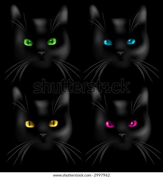 Kittens. Vector illustration.