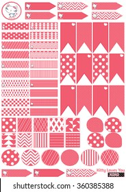 photo relating to Printable Washi Tape called Printable Washi Tape Visuals, Inventory Illustrations or photos Vectors