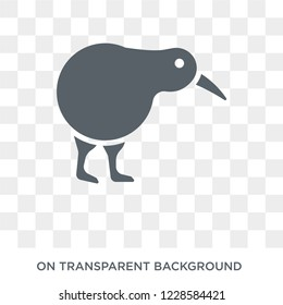 Kiwi bird icon. Trendy flat vector Kiwi bird icon on transparent background from animals  collection. High quality filled Kiwi bird symbol use for web and mobile