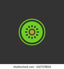 Kiwi flat vector icon
