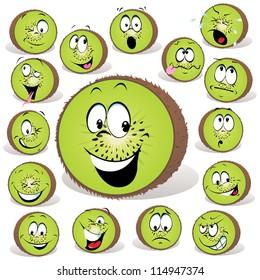kiwi fruit cartoon
