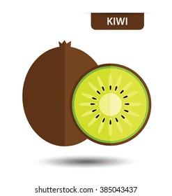 Kiwi, fruit vector illustration
