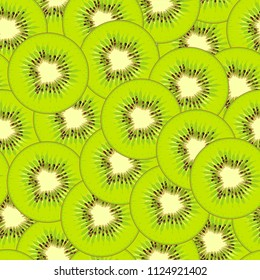 Kiwi seamless pattern. Fruit texture