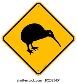 Kiwi Yellow Sign
