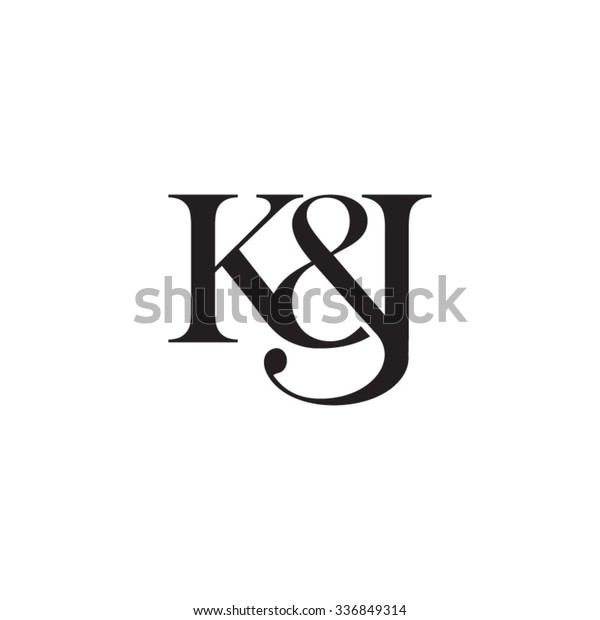 Kj Initial Logo Ampersand Monogram Logo Stock Vector Royalty Free 336849314