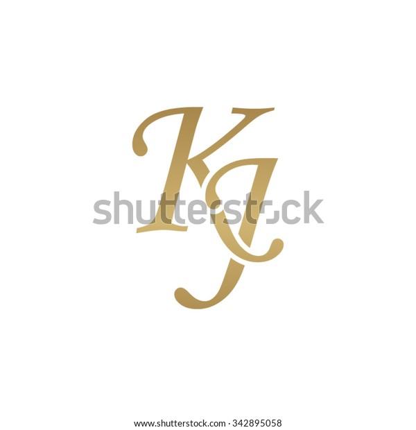 Kj Initial Monogram Logo Stock Vector Royalty Free 342895058