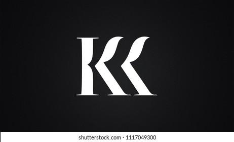 KK Letter Logo Design Template Vector