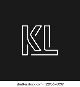 KL letter logo or K L initials design in vector format.