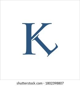 KL logo design vector sign