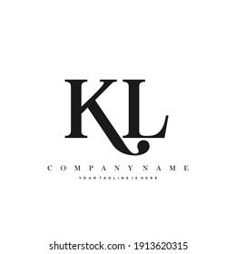 KL Minimal Luxury Initial Logo vector.