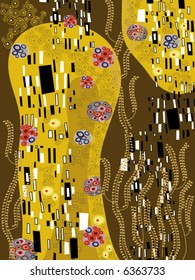 klimt inspired abstract art (vector)