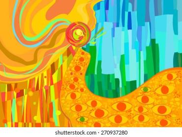Klimteaque Abstract Background