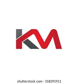 KM company group linked letter logo