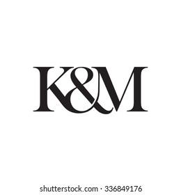 K&M Initial logo. Ampersand monogram logo