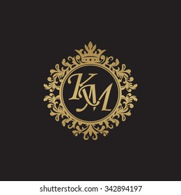 Km Monogram Images Stock Photos Vectors Shutterstock